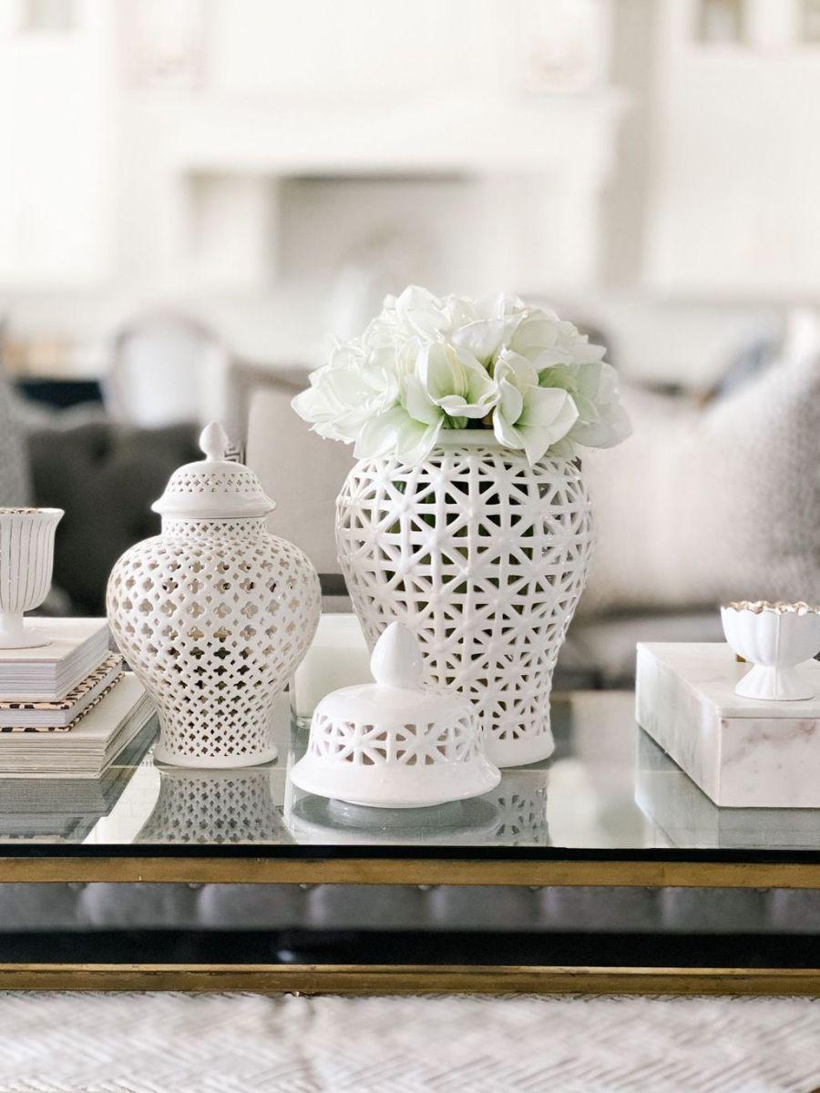 Nice Ginger Jars Decor For Living Room Decoration 25