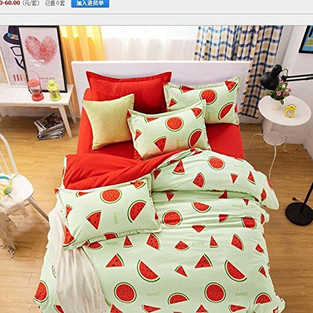 Popular Summer Bedding Ideas To Beautify Your Bedroom 27