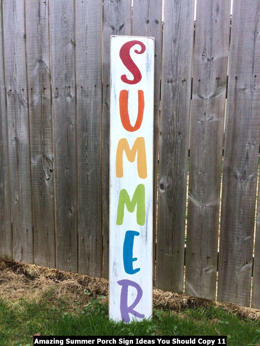 Amazing Summer Porch Sign Ideas You Should Copy 11