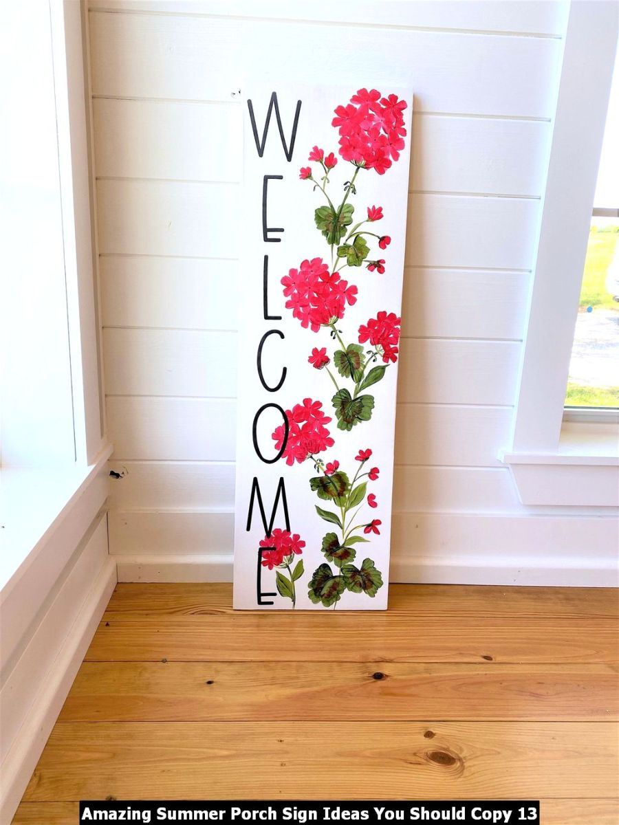 Amazing Summer Porch Sign Ideas You Should Copy 13