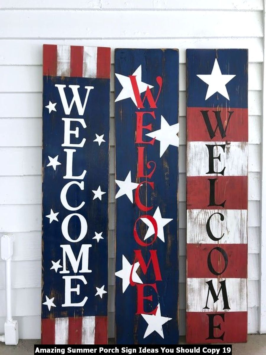 Amazing Summer Porch Sign Ideas You Should Copy 19