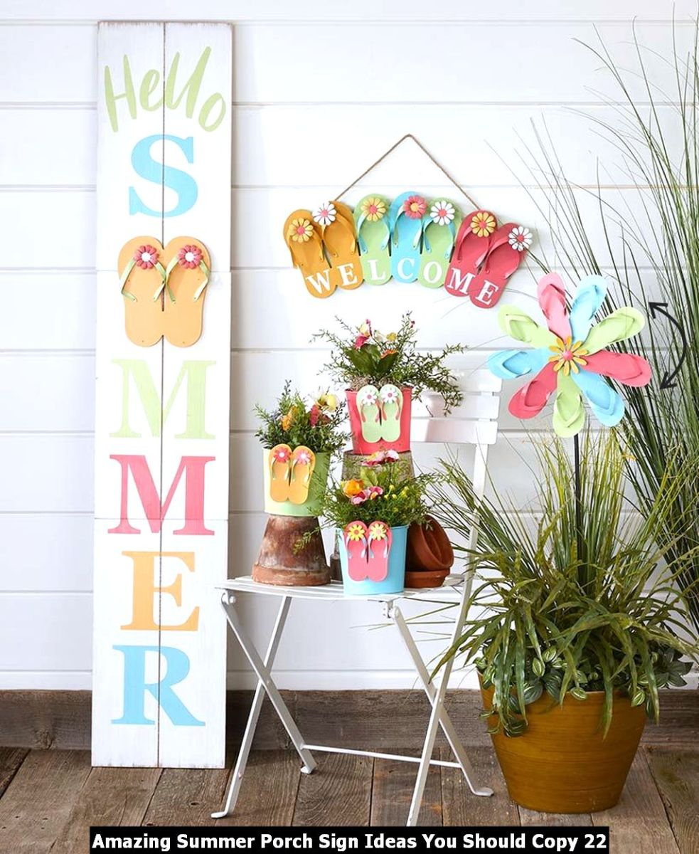 Amazing Summer Porch Sign Ideas You Should Copy 22