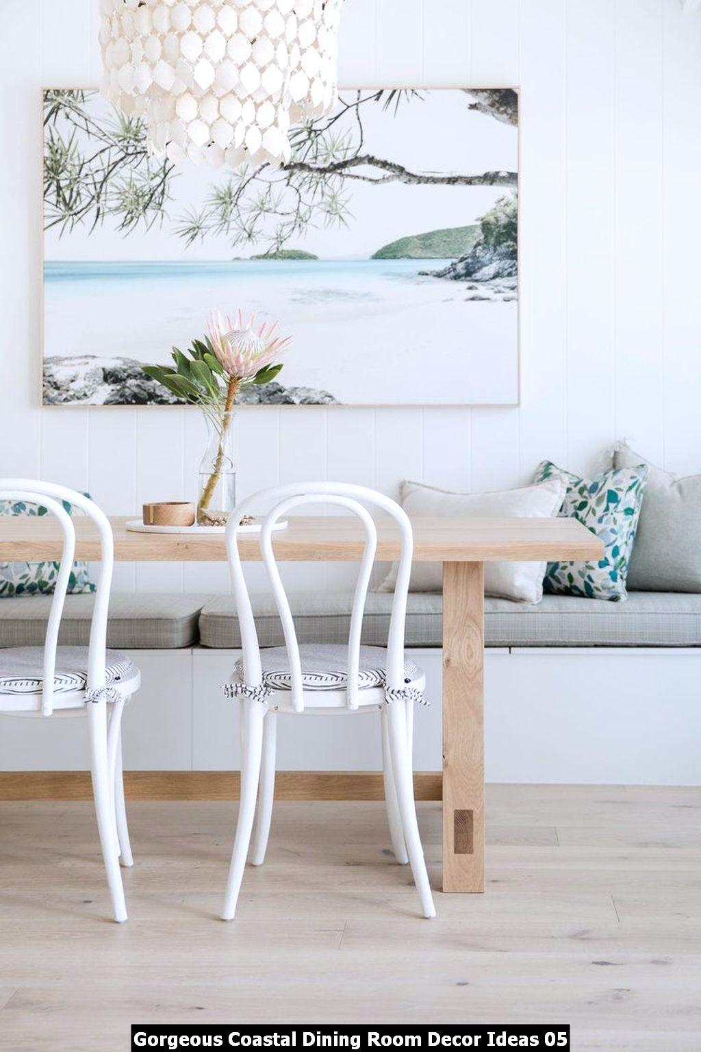 Gorgeous Coastal Dining Room Decor Ideas 05