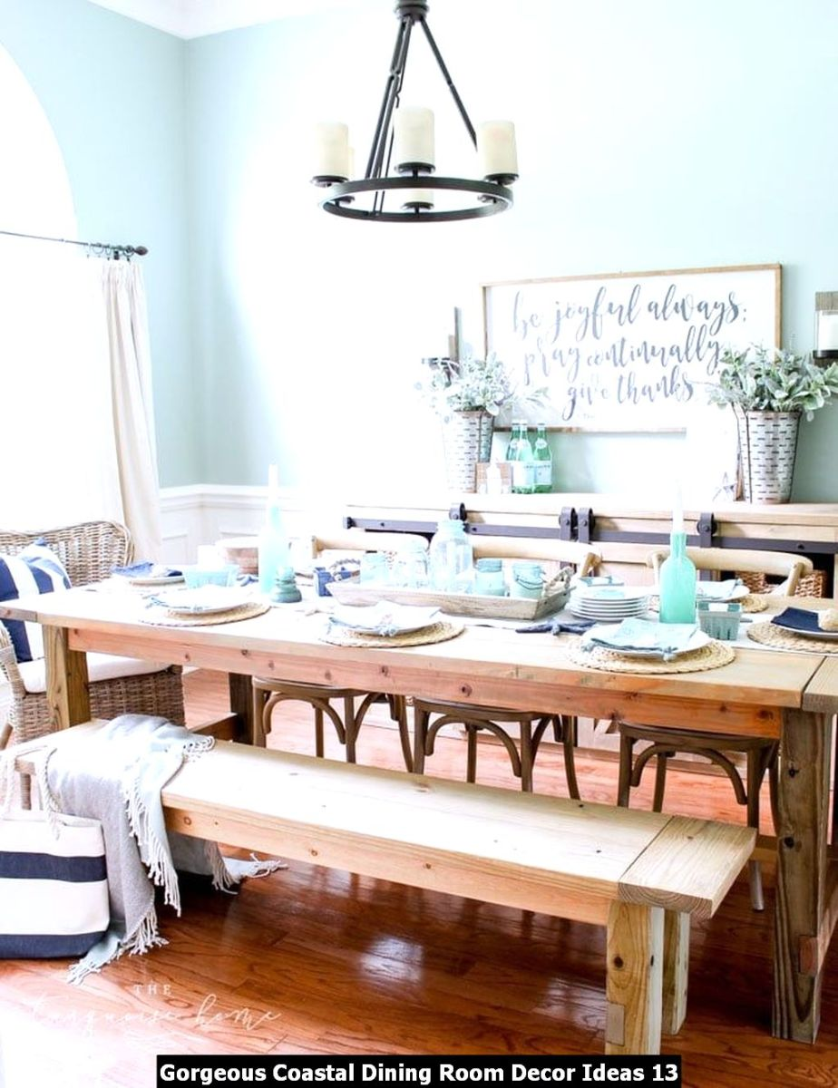 Gorgeous Coastal Dining Room Decor Ideas 13