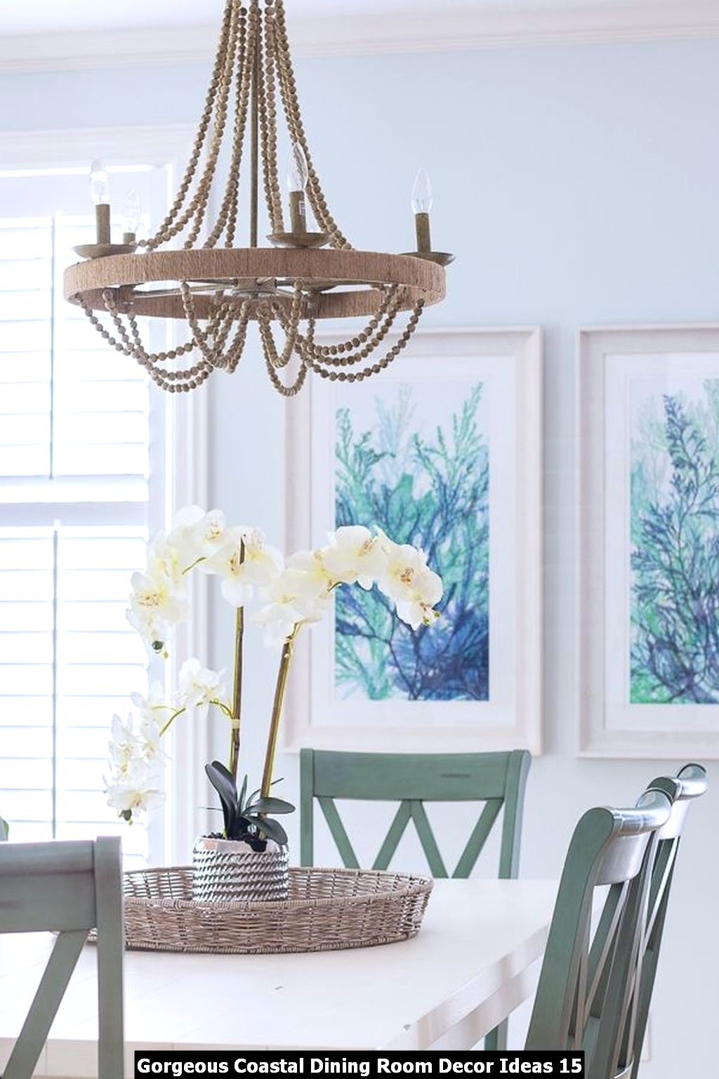 Gorgeous Coastal Dining Room Decor Ideas 15