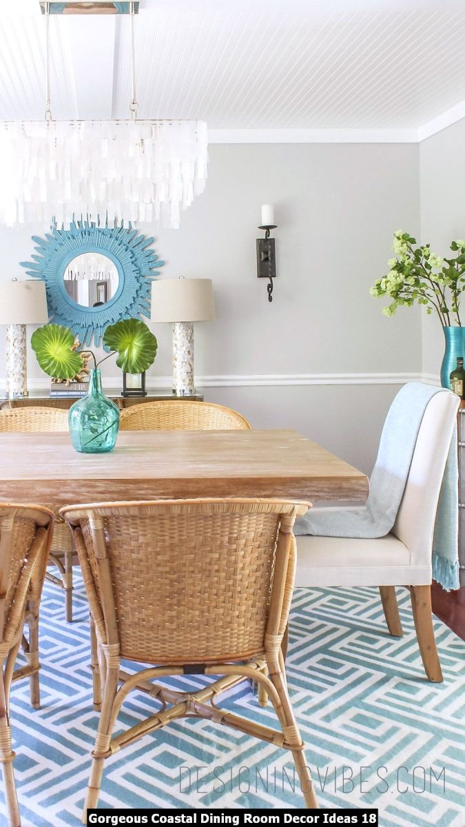 Gorgeous Coastal Dining Room Decor Ideas 18