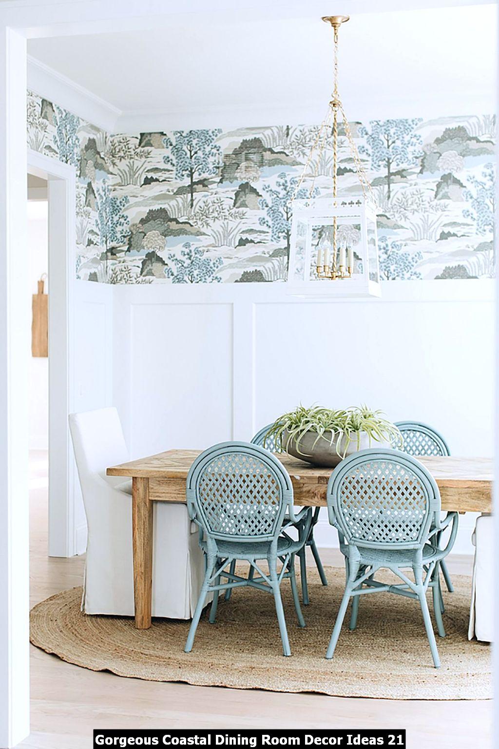Gorgeous Coastal Dining Room Decor Ideas 21
