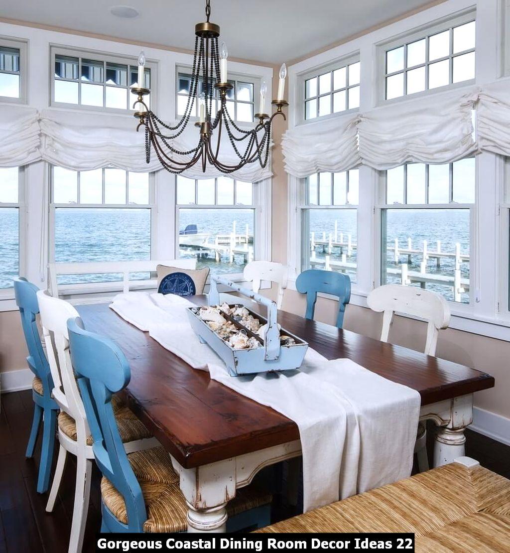 Gorgeous Coastal Dining Room Decor Ideas 22