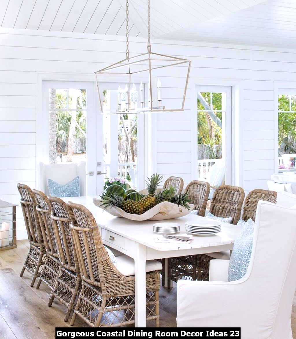 Gorgeous Coastal Dining Room Decor Ideas 23