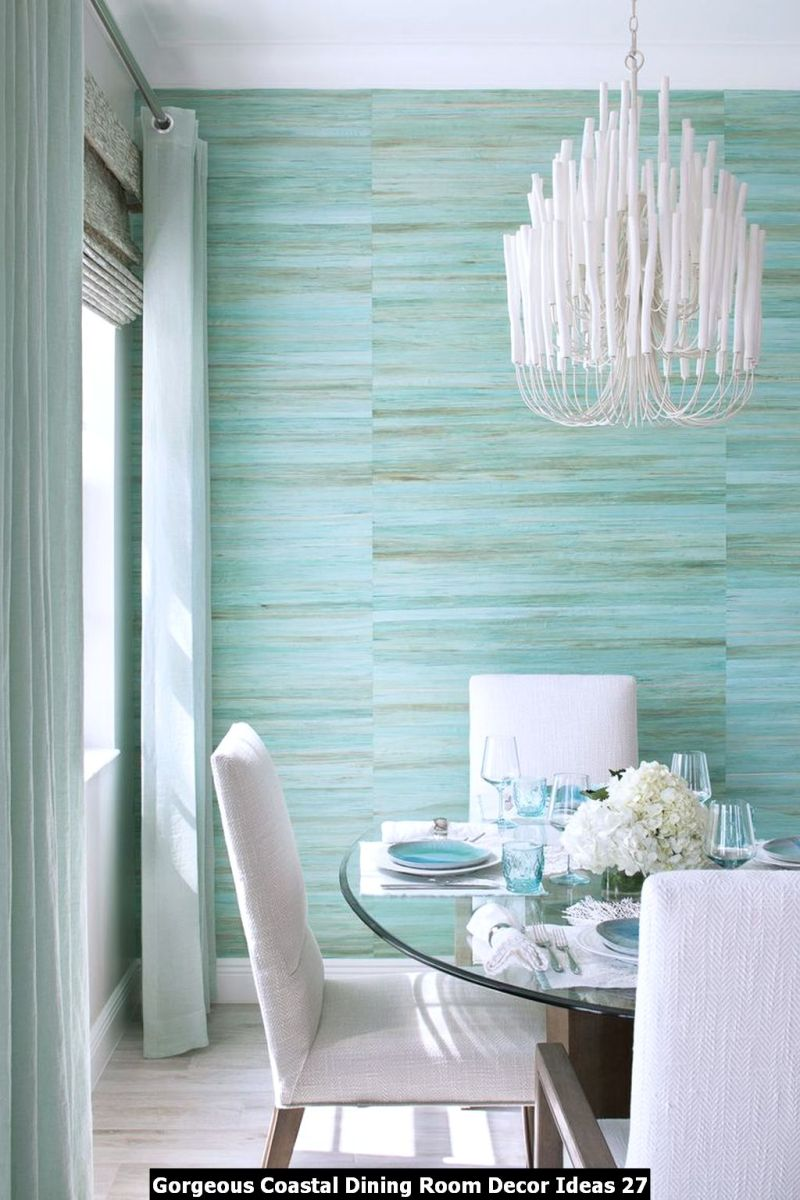 Gorgeous Coastal Dining Room Decor Ideas 27