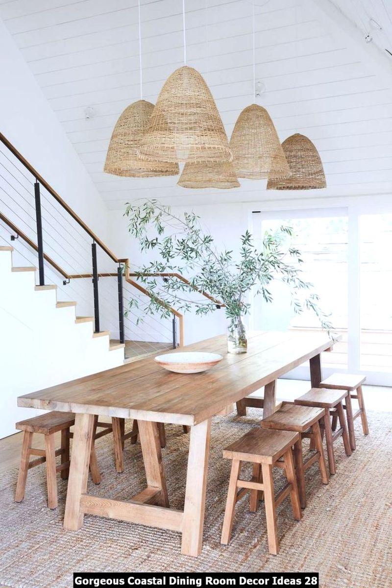 Gorgeous Coastal Dining Room Decor Ideas 28