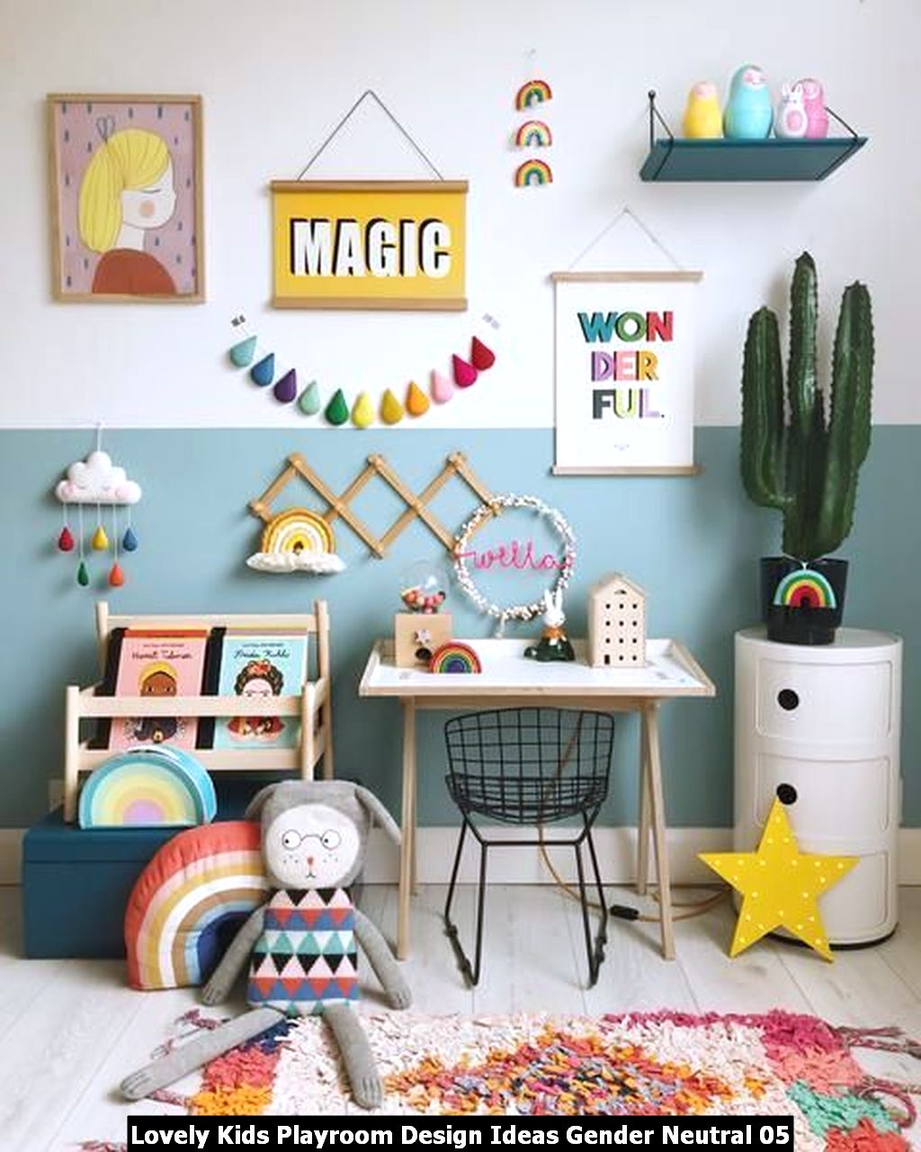 Lovely Kids Playroom Design Ideas Gender Neutral 05