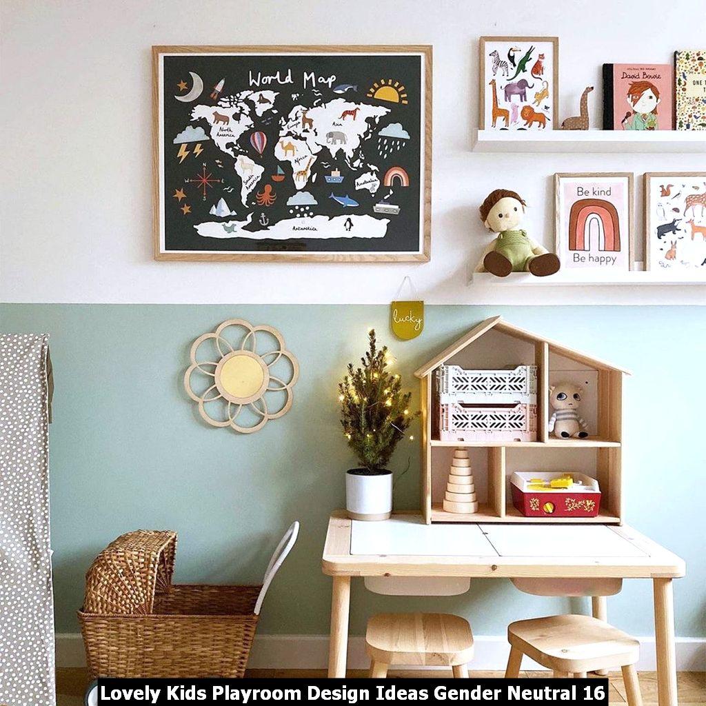 Lovely Kids Playroom Design Ideas Gender Neutral 16