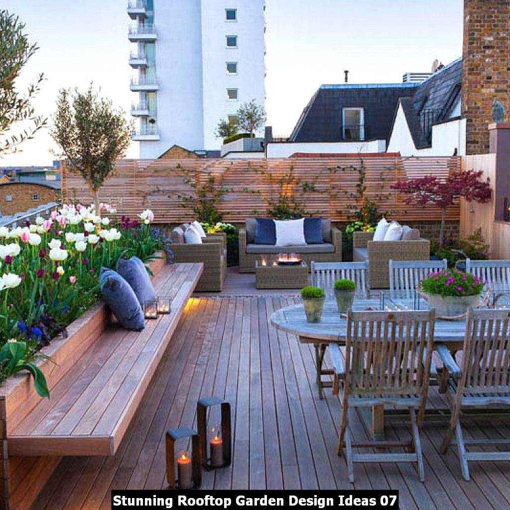 Stunning Rooftop Garden Design Ideas 07