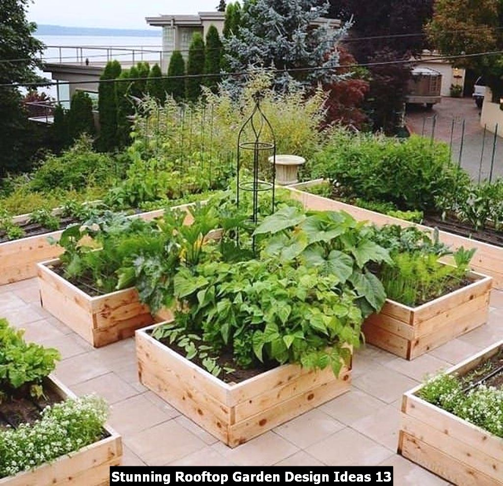 Stunning Rooftop Garden Design Ideas 13