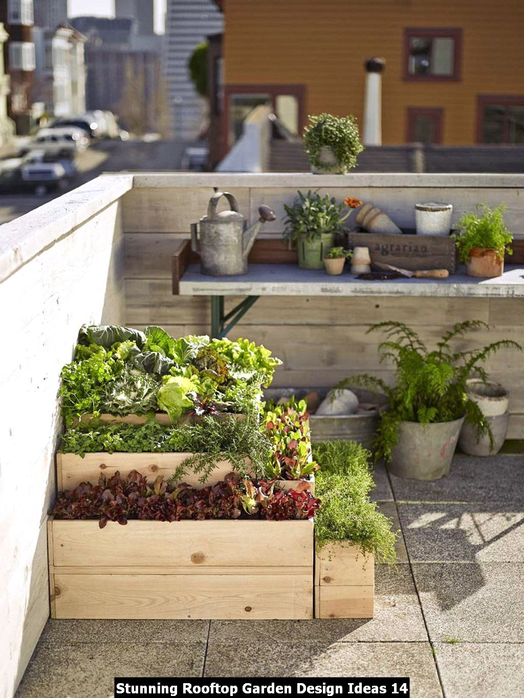 Stunning Rooftop Garden Design Ideas 14