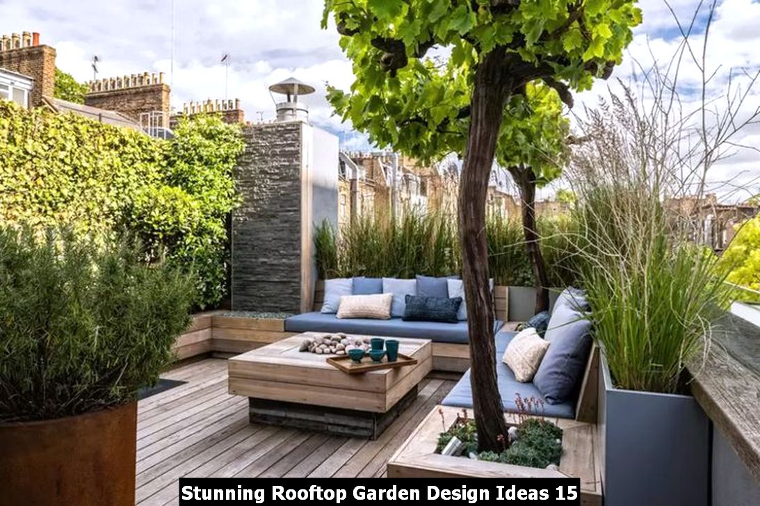 Stunning Rooftop Garden Design Ideas 15