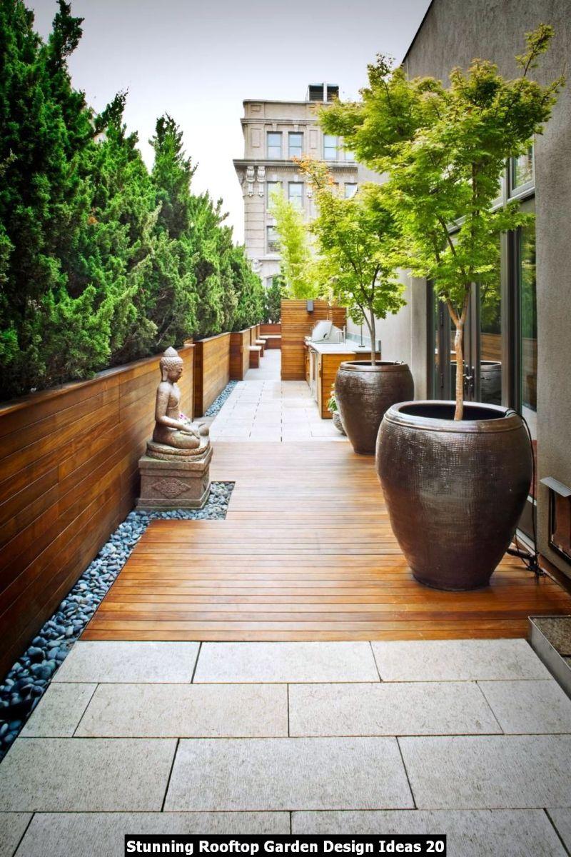 Stunning Rooftop Garden Design Ideas 20