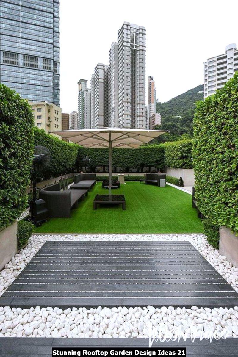 Stunning Rooftop Garden Design Ideas 21