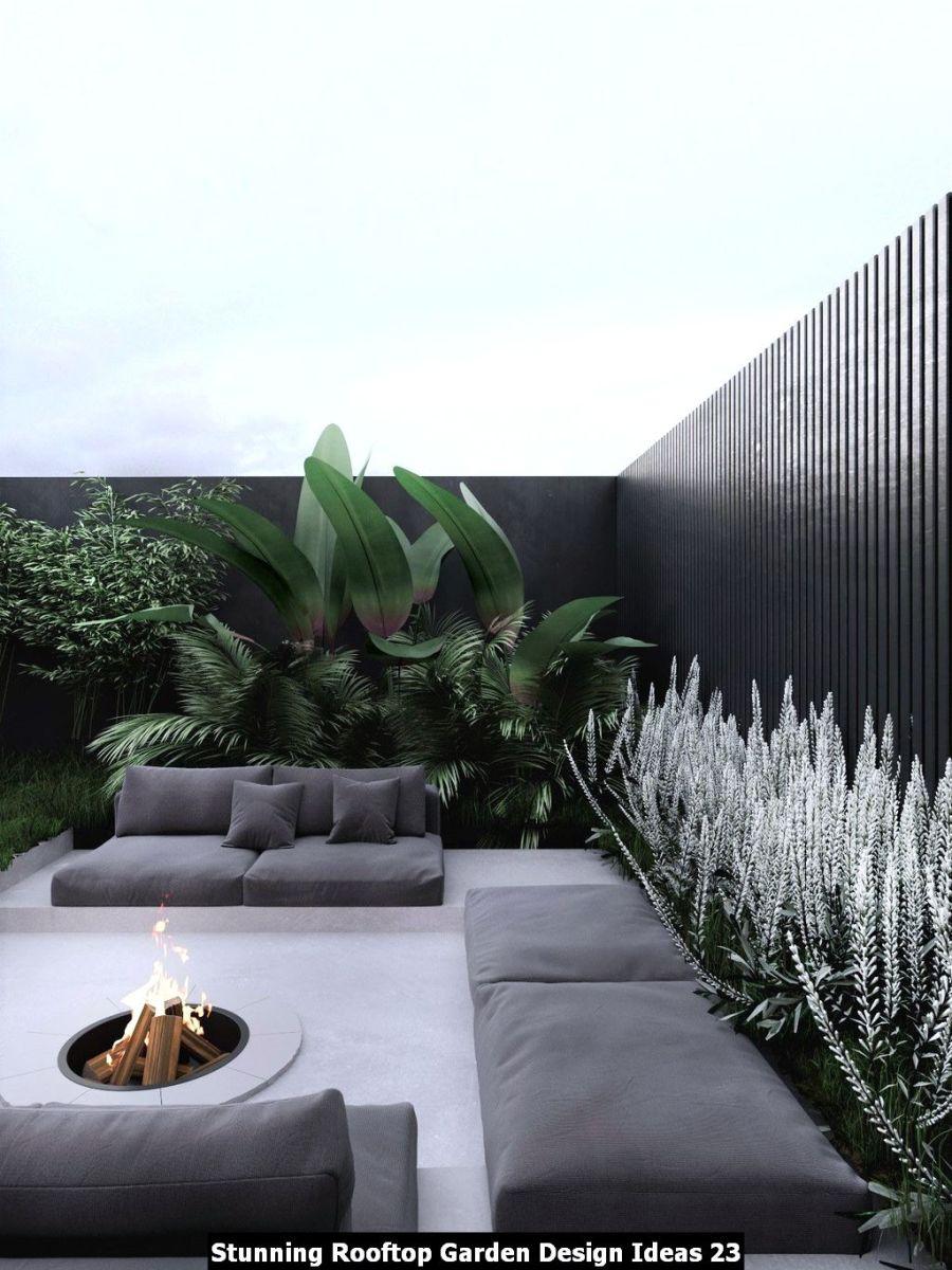 Stunning Rooftop Garden Design Ideas 23