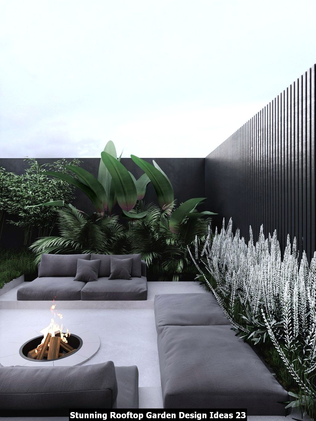 Stunning Rooftop Garden Design Ideas 23