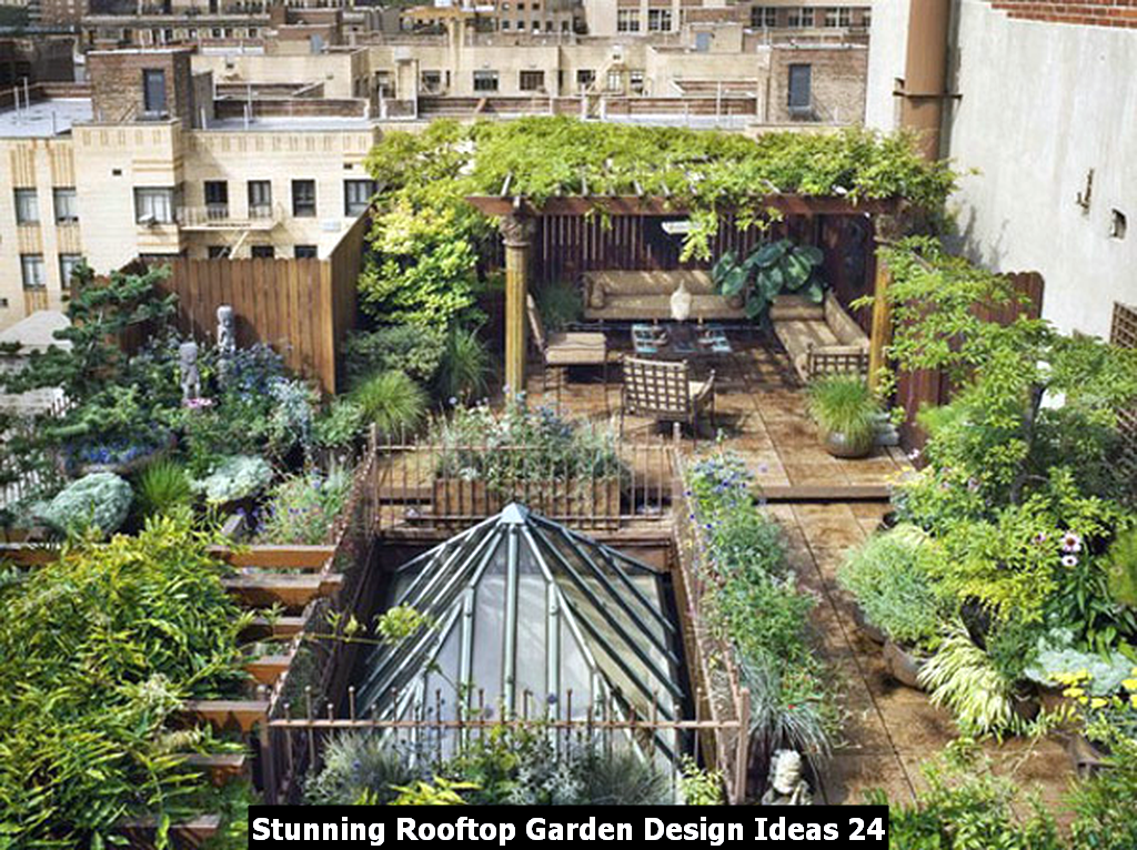 Stunning Rooftop Garden Design Ideas 24