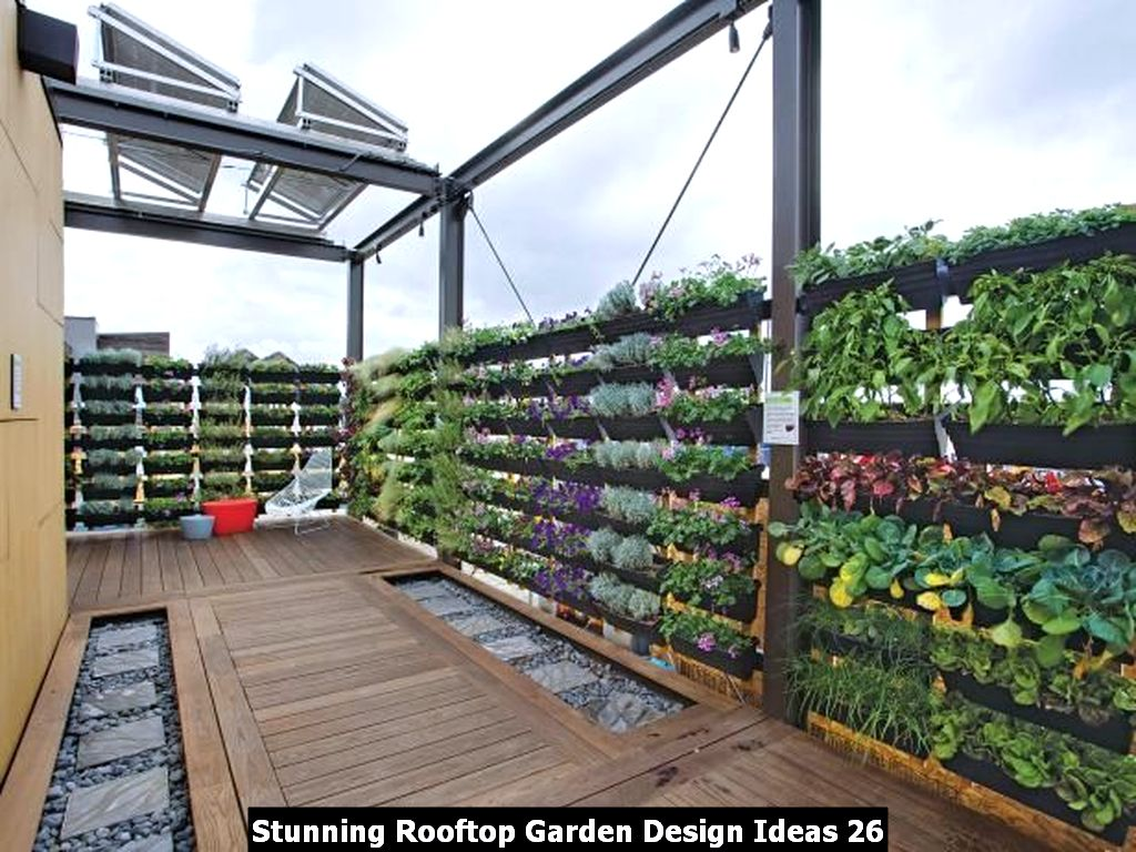 Stunning Rooftop Garden Design Ideas 26