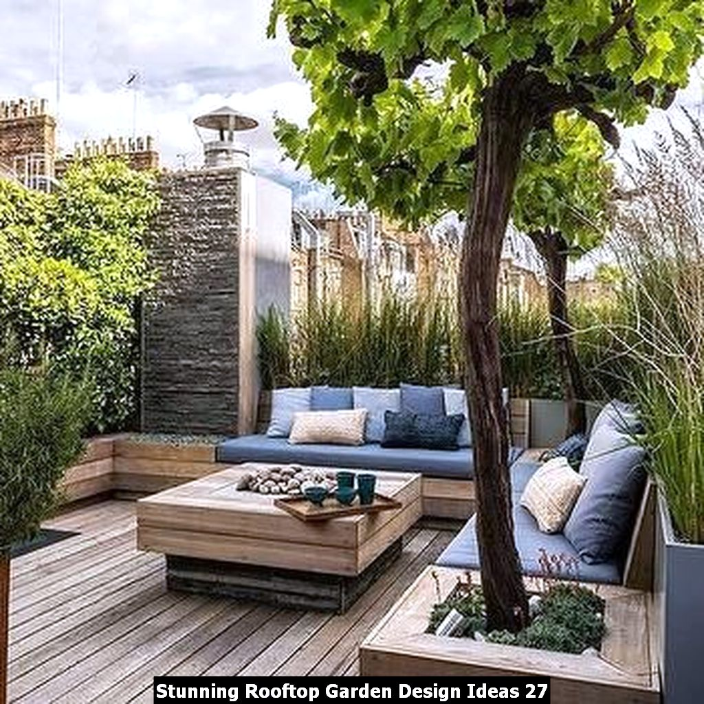 Stunning Rooftop Garden Design Ideas 27