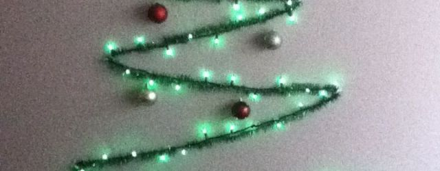 String Light Christmas Tree
