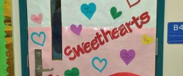 Valentine's Day Door Decorations For Classroom