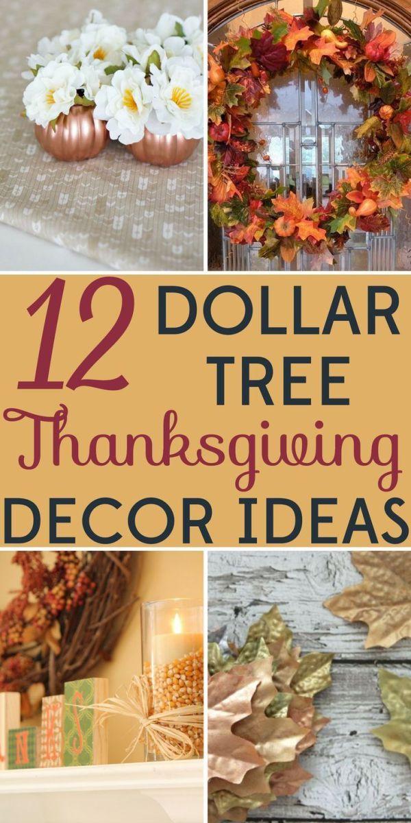 Dollar Tree DIY Thanksgiving Decorations