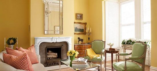 Yellow Walls Living Room