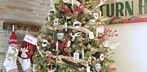 Farmhouse Christmas Tree Decorations