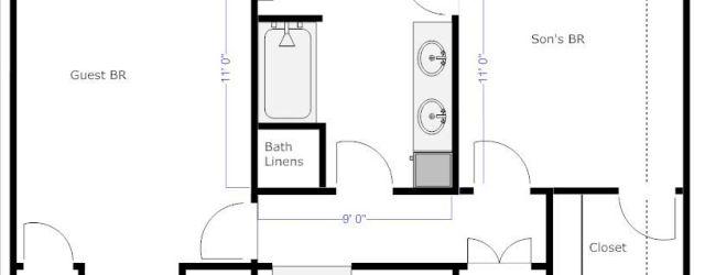 Jack And Jill Bathroom Plans