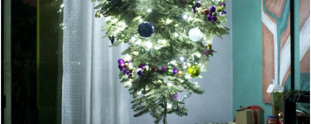 Christmas Tree Hanging From Ceiling