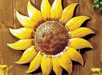 Metal Sunflower Outdoor Decor