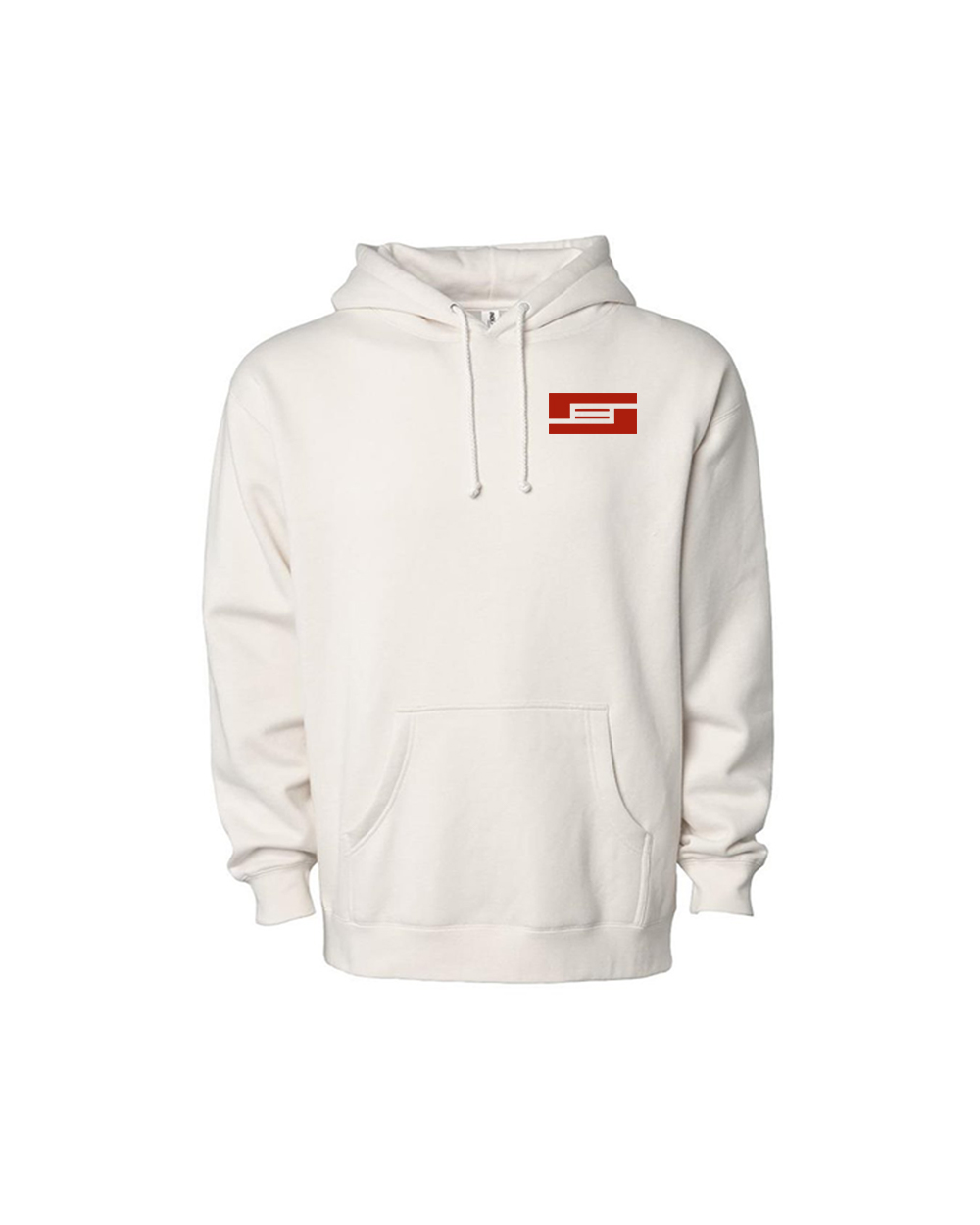 BYRD Pocket Logo White Hoodie