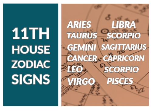 11th House Astrology In Zodiac Signs All 1st To 12th Signs