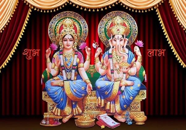 diwali puja vidhi with shubh laabh