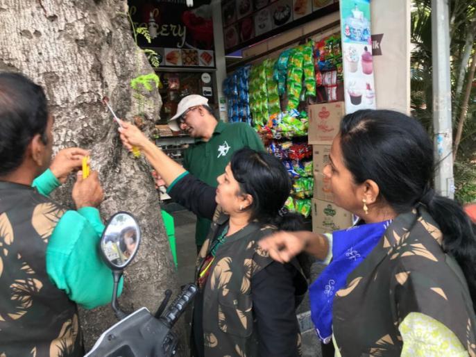 झाडांना खिळे ठोकणा-यावर प्रशासनाची दंडात्मक कारवाई