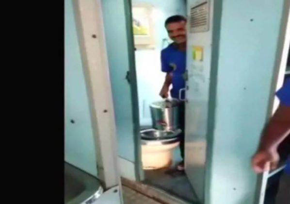 रेल्वेच्या शौचालयातील पाण्याने चहा बनवण्याचा व्हिडीओ व्हायरल