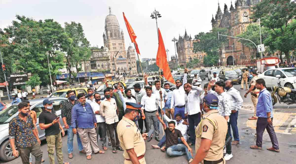 #MaharashtraBand: राज्यात ४८ ठिकाणी निदर्शने, रास्ता रोको तर; मुंबईत २०० जण ताब्यात