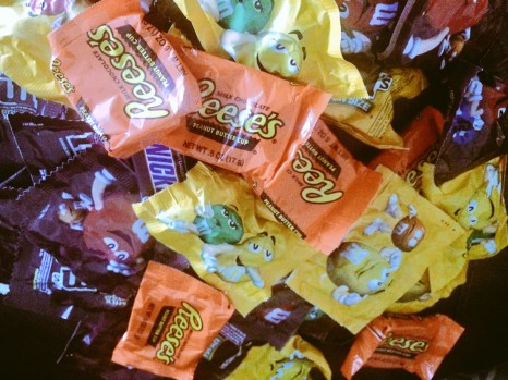 Halloween Candy: Reese's and M&M's