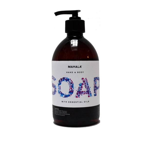 Eco friendly hand soap, with added essential oils of rosemary lavender and geranium. HandMade here at Mahala an independent homewares and accessories