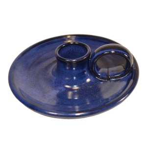 Handmade blue/black glazed ceramic wee willie winkie candle holder. Made in Scotland. Found here at Mahala an independent homewares and accessories