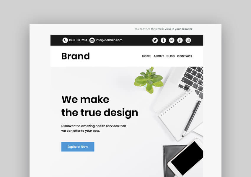 Brand - Multipurpose Responsive Mailchimp Email Template - Best Responsive Mailchimp Templates for Mobile Email