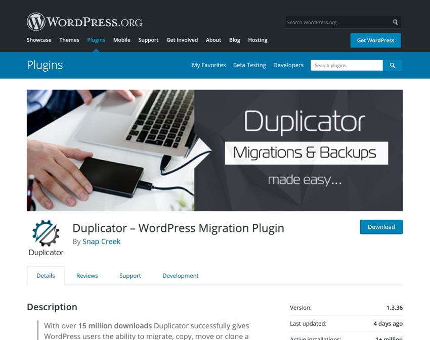 How to Clone a WordPress Site with duplicator plugin