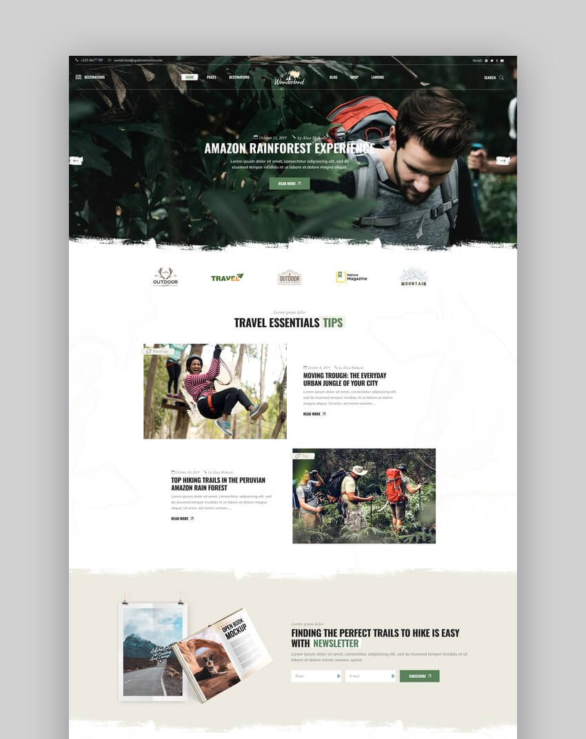 Wanderland - Clean Blog and Magazine Theme
