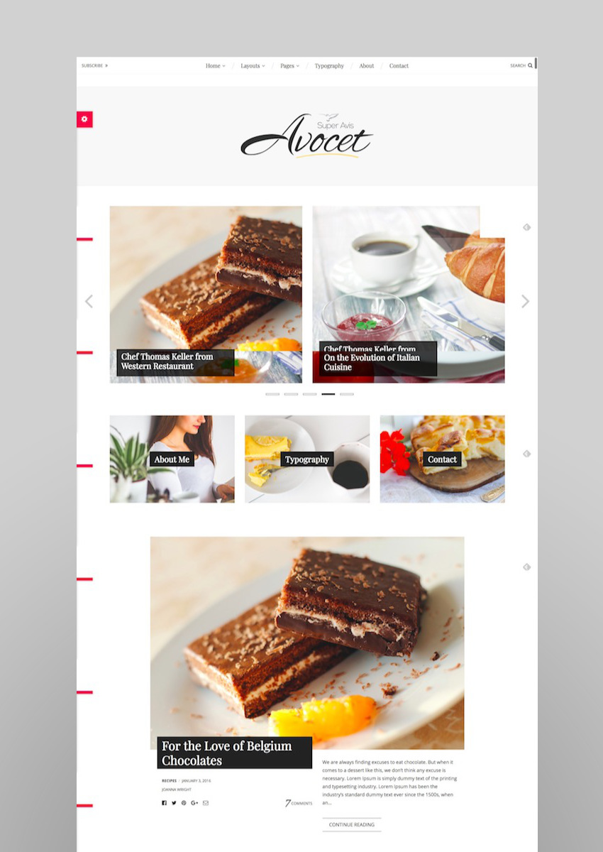 Avocet WordPress Blog Theme - for Lifestyle Food Travel and Fashion Bloggers
