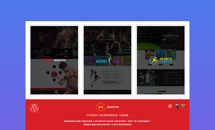 Maruthi Fitness Health And Fitness WordPress Theme